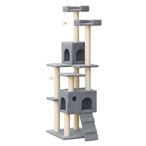 The Vines 7 Level Cat Scratching Post - Grey